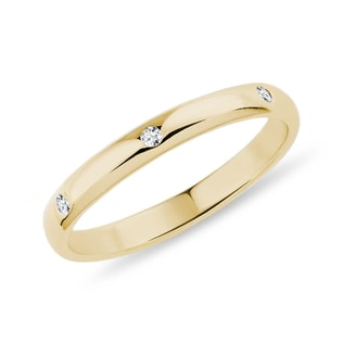 DIAMOND 14KT GOLD RING - YELLOW GOLD FINE JEWELLERY - FINE JEWELLERY
