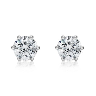 Diamond 14kt gold earrings