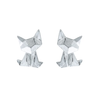 FOX STERLING SILVER EARRINGS - STERLING SILVER FINE JEWELLERY - FINE JEWELLERY