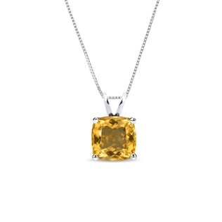 CITRINE NECKLACE IN STERLING SILVER - STERLING SILVER PENDANTS - PENDANTS