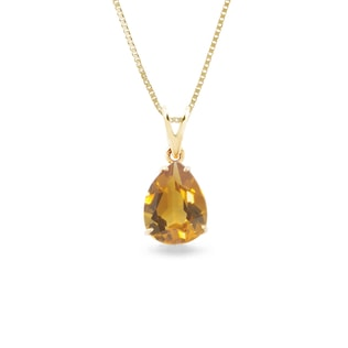 Citrine pendant in 14kt gold