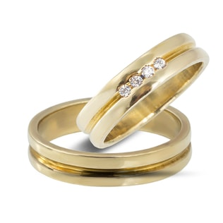 DIAMOND WEDDING RING IN 14KT GOLD - YELLOW GOLD WEDDING RINGS - WEDDING RINGS