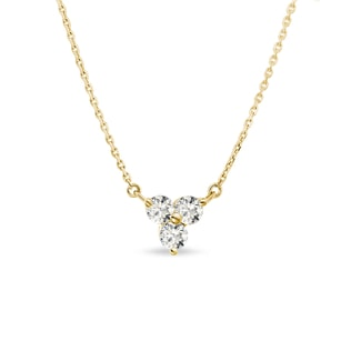 Diamond pendant in 14kt gold