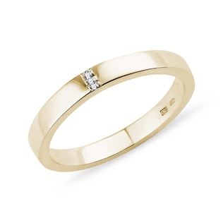 GOLD WEDDING RING WITH DIAMONDS - RINGS FOR HER - WEDDING RINGS