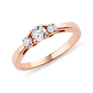 DIAMOND ENGAGEMENT RING IN ROSE GOLD - ENGAGEMENT RINGS
