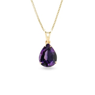 AMETHYST GOLD NECKLACE - AMETHYST PENDANTS - PENDANTS