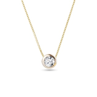 Diamond 14kt gold pendant