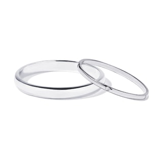 WEDDING RINGS MADE OF WHITE GOLD WITH FIVE DIAMONDS - WHITE GOLD WEDDING RINGS - WEDDING RINGS