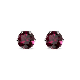RHODONITE EARRINGS IN 14KT GOLD - GARNET EARRINGS - EARRINGS
