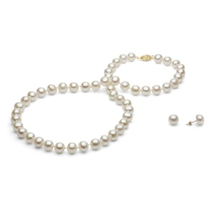 PEARL NECKLACE AND EARRINGS - PEARL SETS - PEARL JEWELLERY