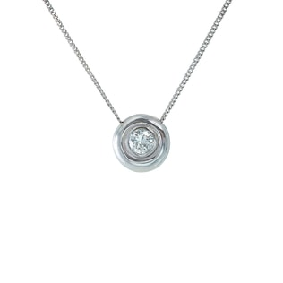 DIAMOND PENDANT IN 14KT WHITE GOLD - DIAMOND PENDANTS - PENDANTS