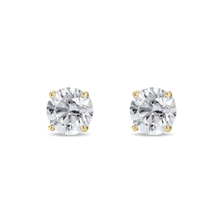 ELEGANT DIAMOND EARRINGS 0.25KT IN 14KT GOLD - YELLOW GOLD EARRINGS - EARRINGS
