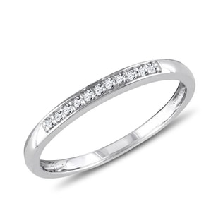 SILVER RING WITH DIAMONDS - RINGS FOR HER - WEDDING RINGS