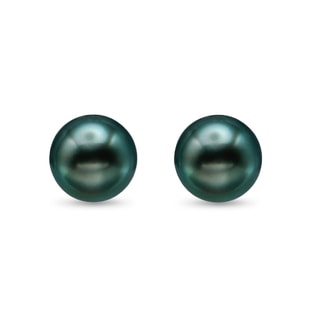 TAHITIAN PEARL EARRINGS IN 14KT GOLD - TAHITIAN PEARLS JEWELLERY - PEARL JEWELLERY