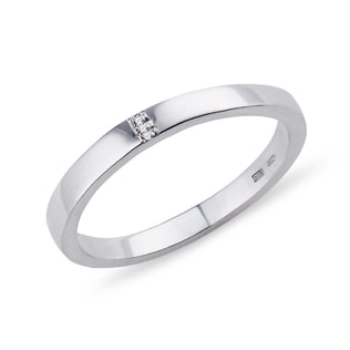 RING MADE OF WHITE GOLD WITH DIAMONDS - RINGS FOR HER - WEDDING RINGS