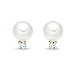 PEARL EARRINGS IN 14KT GOLD - PEARL EARRINGS - PEARL JEWELLERY