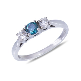 DIAMOND RING IN 14KT WHITE GOLD - DIAMOND RINGS - RINGS