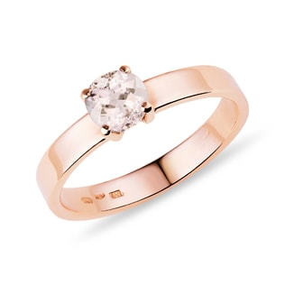 DIAMOND RING IN 14KT GOLD - ROSE GOLD ENGAGEMENT RINGS - ENGAGEMENT RINGS