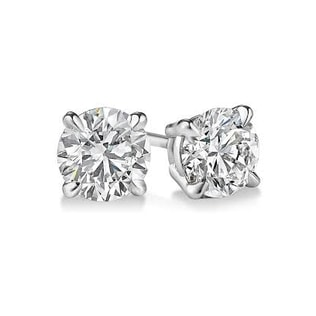 DIAMOND 14KT GOLD EARRINGS - STUD EARRINGS - EARRINGS