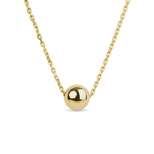 GOLD CHAIN WITH 5.9 MM GOLD BALL - YELLOW GOLD PENDANTS - PENDANTS