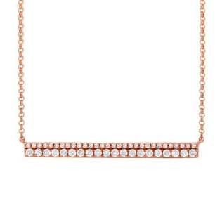 DIAMOND NECKLACE IN 14KT ROSE GOLD - DIAMOND PENDANTS - PENDANTS