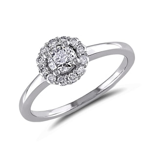 DIAMOND ENGAGEMENT RING IN 14KT GOLD - WHITE GOLD RINGS - RINGS