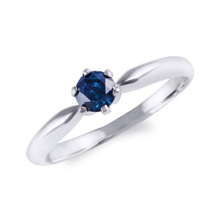 ENGAGEMENT RING WITH BLUE DIAMOND - FANCY DIAMOND ENGAGEMENT RINGS - ENGAGEMENT RINGS