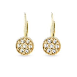 GOLD EARRINGS - DIAMOND EARRINGS - EARRINGS