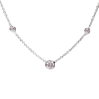14kt white gold necklace