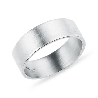 MEN'S WEDDING RING MADE OF WHITE GOLD - RINGS FOR HIM - WEDDING RINGS