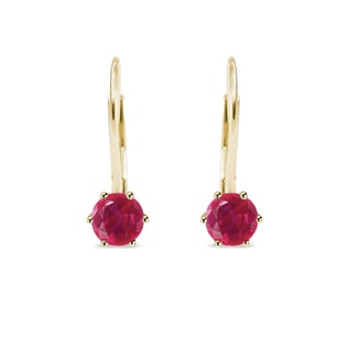 RUBY EARRINGS IN 14KT GOLD - RUBY EARRINGS - EARRINGS