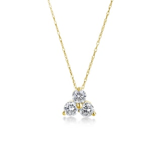 DIAMOND PENDANT IN 14KT GOLD - YELLOW GOLD PENDANTS - PENDANTS