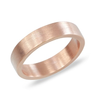 Men's wedding ring in 14kt rose gold