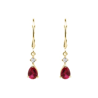 Padlocks earrings with rubies and diamonds