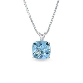 TOPAZ NECKLACE IN STERLING SILVER - STERLING SILVER PENDANTS - PENDANTS