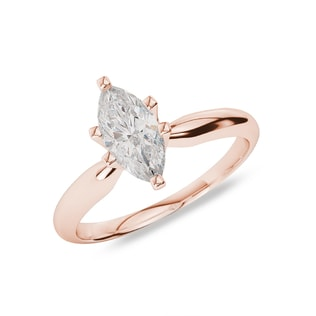 ROSE GOLD ENGAGEMENT RING WITH DIAMOND - SOLITAIRE ENGAGEMENT RINGS - ENGAGEMENT RINGS