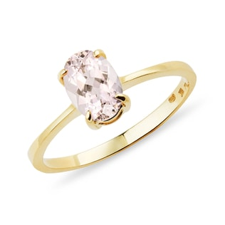GOLD RING WITH MORGANITE - GEMSTONE RINGS - RINGS