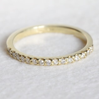 DIAMOND RING IN 14KT YELLOW GOLD - YELLOW GOLD RINGS - RINGS