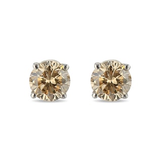 Champagne diamond earrings in 14kt gold