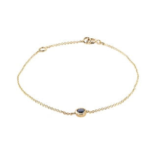 Black diamond bracelet in 14kt yellow gold