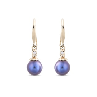 PEARL 14KT GOLD EARRINGS - PEARL EARRINGS - PEARL JEWELLERY