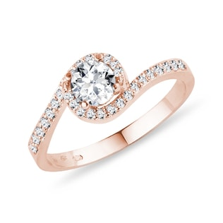 DIAMOND RING IN ROSE GOLD - ENGAGEMENT HALO RINGS - ENGAGEMENT RINGS