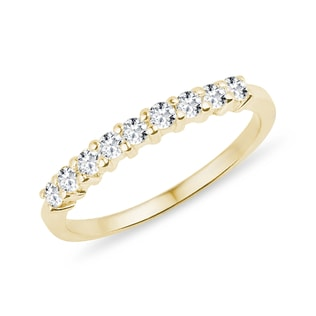 RING WITH DIAMONDS IN YELLOW GOLD - RINGS FOR HER - WEDDING RINGS