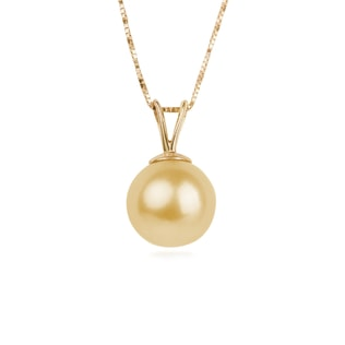 SOUTH PACIFIC PEARL PENDANT IN 14KT SOLID GOLD - SOUTH PACIFIC PEARLS JEWELLERY - PEARL JEWELLERY