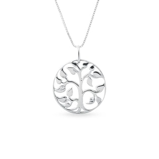 Tree of Life necklace in white gold