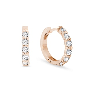 EARRINGS WITH DIAMONDS IN ROSE GOLD - DIAMOND EARRINGS - EARRINGS