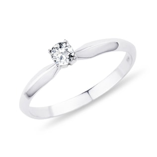 DIAMOND ENGAGEMENT RING - WHITE GOLD RINGS - RINGS