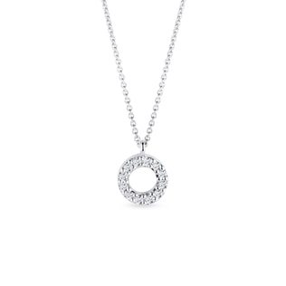 Collier en or blanc avec diamants