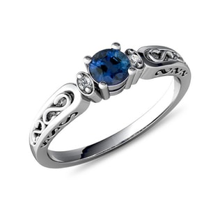 SAPPHIRE RING IN 14KT GOLD - SAPPHIRE RINGS - RINGS