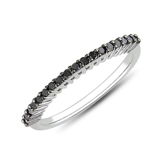 DIAMOND RING IN STERLING SILVER - STERLING SILVER RINGS - RINGS